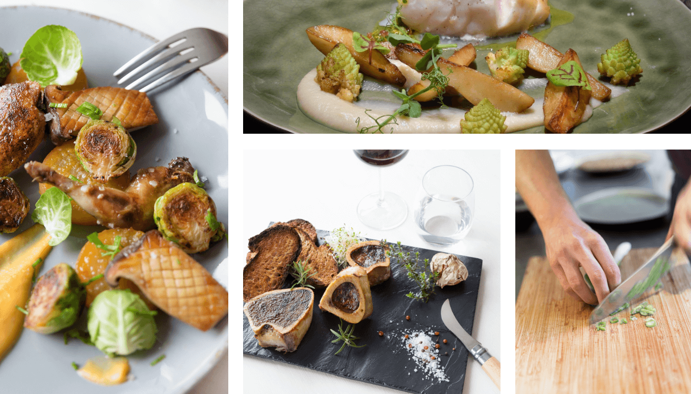 Slider photos de plats gourmands - Bordeaux
